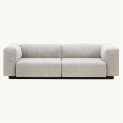 Vitra Soft Modular Zweisitzer Sofa grau