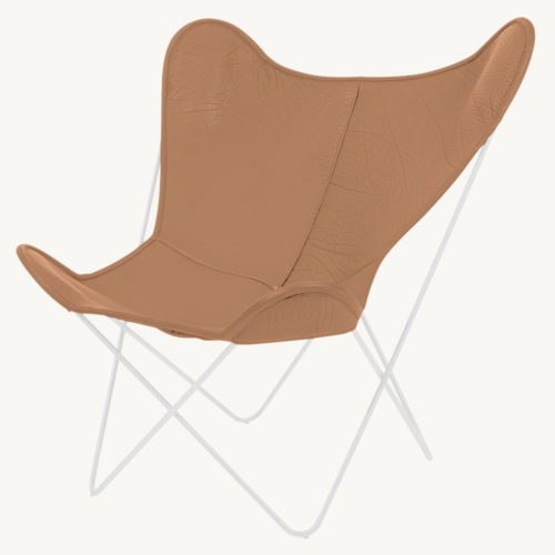 Butterfly Chair cognac weiss I Manufakturplus