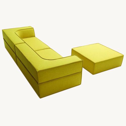 COR Trio Sofa in gelb