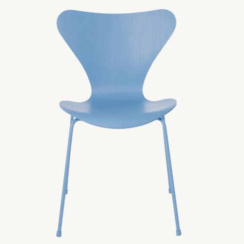 Fritz Hansen Serie 7 Stuhl Monochrom Blau