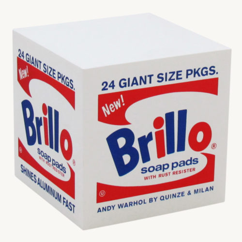 Quinze & Milan Andy Warhol Brillo Pouf weiss 1