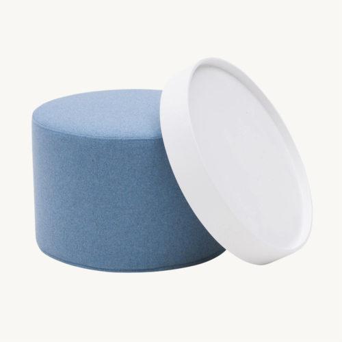 Softline Drum Hocker Blau