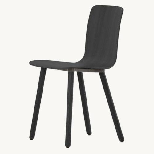Vitra Hal Ply Wood Stuhl 1 eiche dunkel