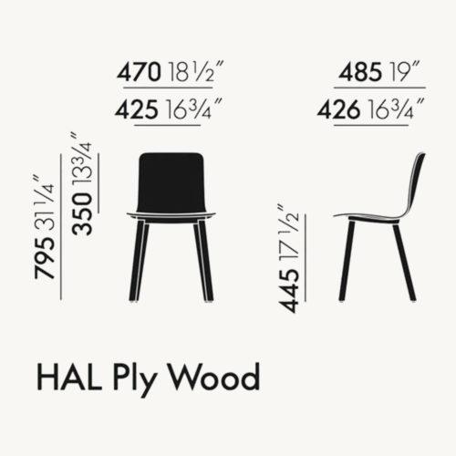 Vitra Hal Ply Wood Stuhl 3