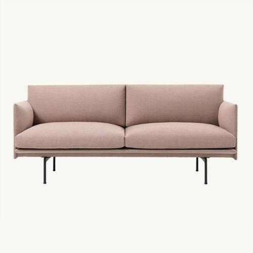 Muuto Outline Sofa 2-Seater Fiord 551