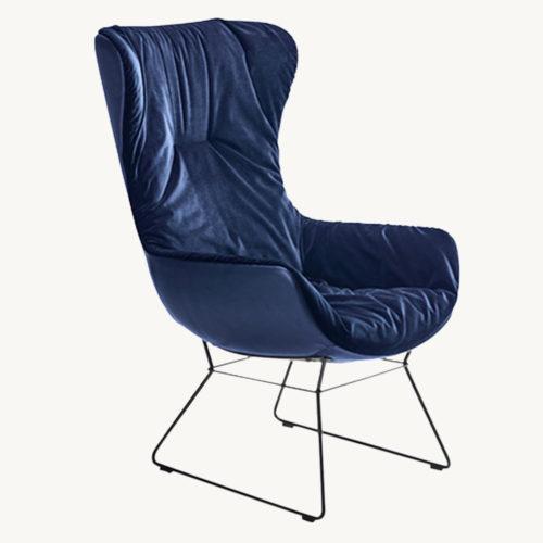 Freifrau Leya Cocktail Wingback Chair 3