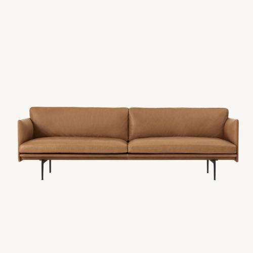 3-Sitzer Sofa Leder muuto