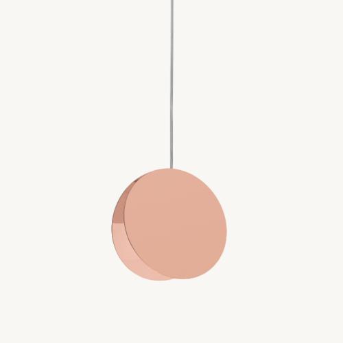 North-Pendelleuchte-e15-verkupfert-pink