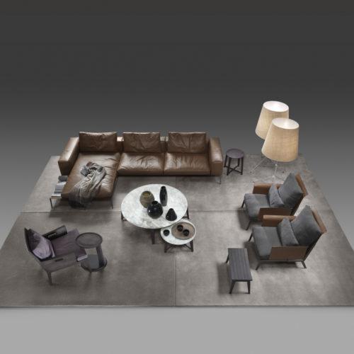 Lifesteel Sofa Flexform Leder