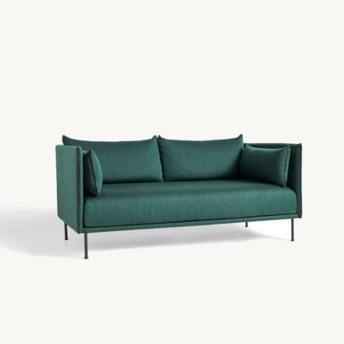 HAY Silhouete Sofa 2-Sitzer grün