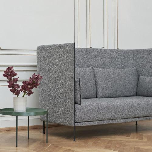 HAY Silhouette Sofa 2 sitzer grau living