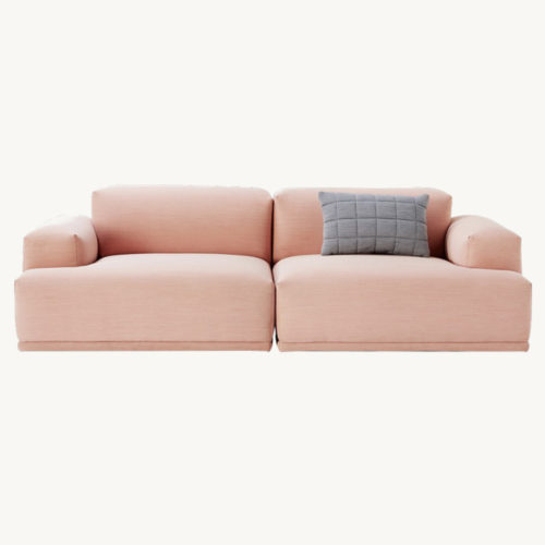 Connect Sofa pink 2-sitzer