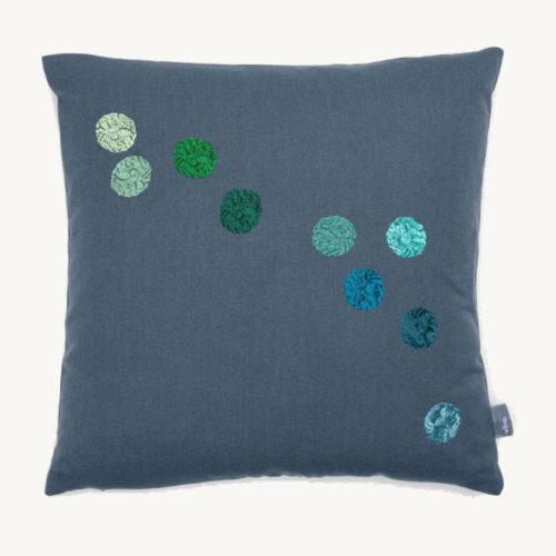 Kissen Dot Pillow Blau Grau Vitra