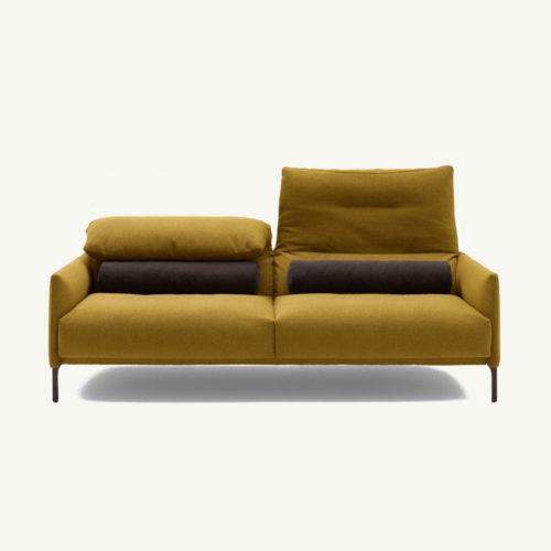 cor_Avalanche-Desigernmöbel_Sofa_gelb_Frontansicht_2-Sitzer
